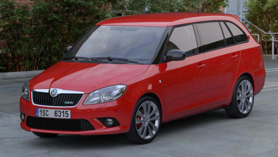 while the estate starts at £16495. skoda fabia vrs 2010 02