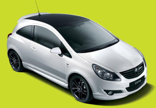 vauxhall corsa black white limited edition