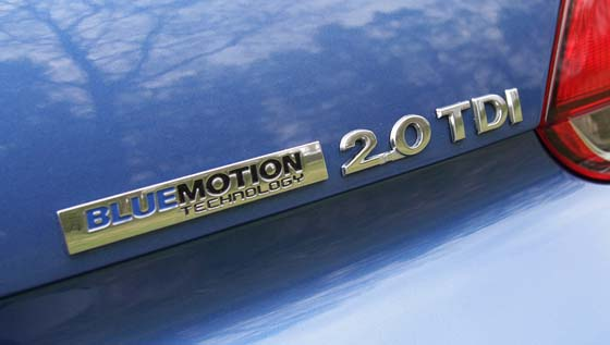 Volkswagen Scirocco GT Bluemotion Badge