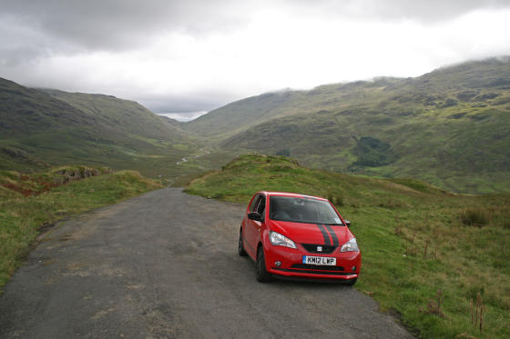 SEAT Mii Hardknott Pass Summit
