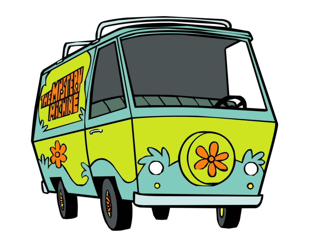 Scooby Doo Mystery Machine Van http://drivingspirit.com/10-iconic-cars-of-tv-film/